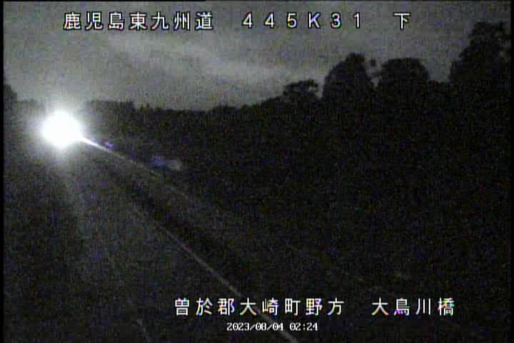 E78 東九州道[大鳥川橋 曽於郡大崎町]ライブカメラ